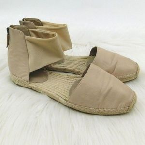 Eileen Fisher Coy Nude D'Orsay Espadrille Sandals